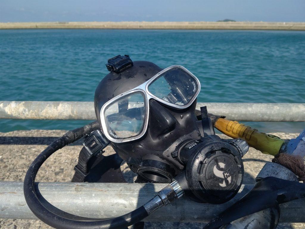 作業潜水写真